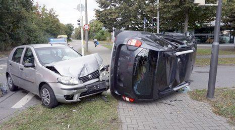Merging traffic accident