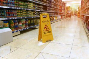 Slip In A Supermarket