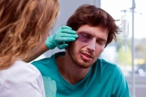 Eye injury compensation