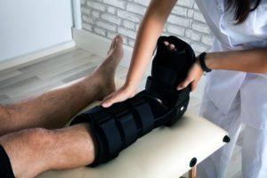 Leg injury at work compensation