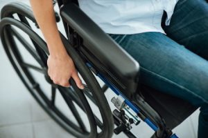 Accident in wheelchair compensation claim