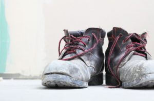 Inadequate work safety boots