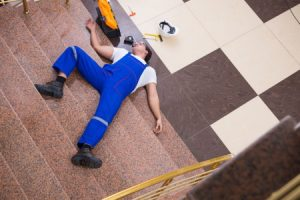 Fell down stairs at work compensation claims