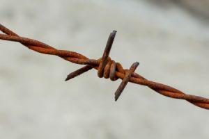 Barbed wire/razor wire personal injury claim